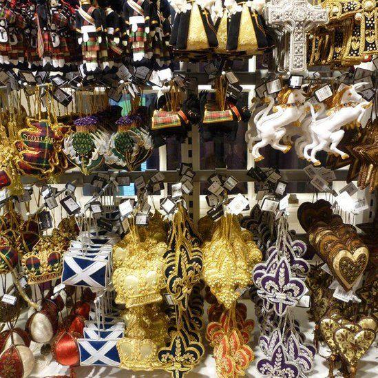 Souvenirs in a shop