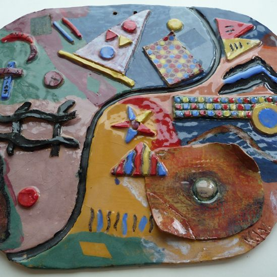 """""""Seaside Plate"""" gan Katie Wooldfield, 16, o Ysgol Alderman Knight"""
