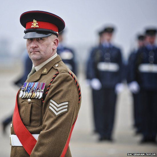 Sgt Fife of the Military Provost Guard Service (MPGS)
