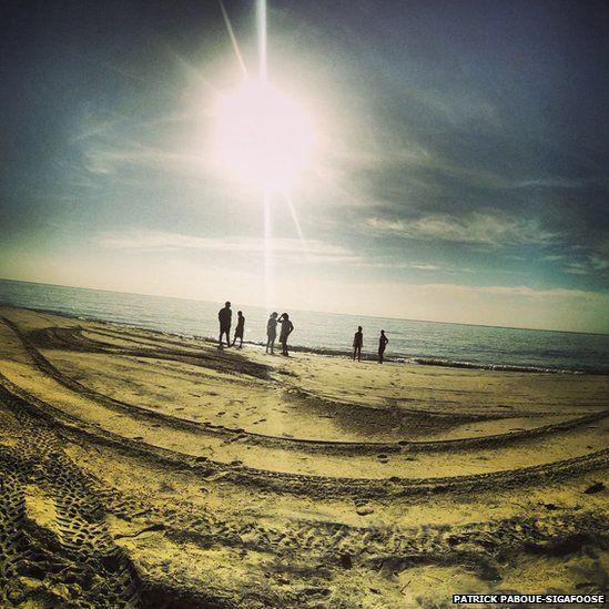 Santa Clara beach.