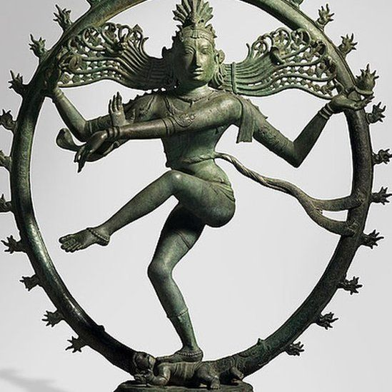 A bronze figure of Shiva, as Lord of the Dance