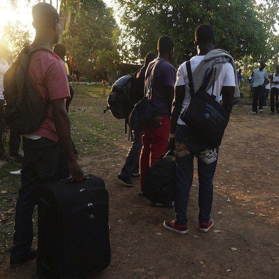 Migrants arriving at Rio Branco (October 2014)