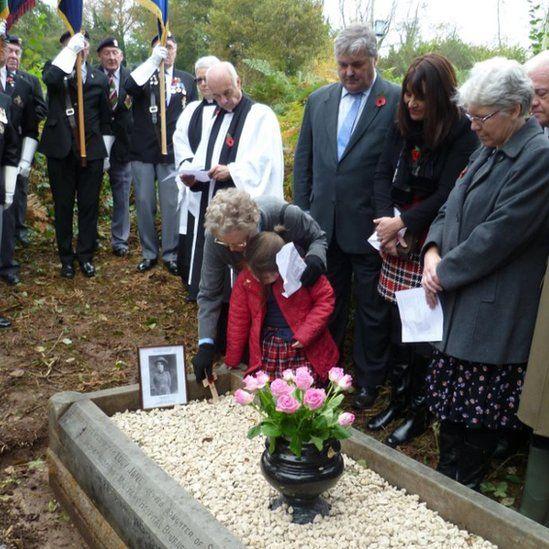 Lucy Jane Saint's grave
