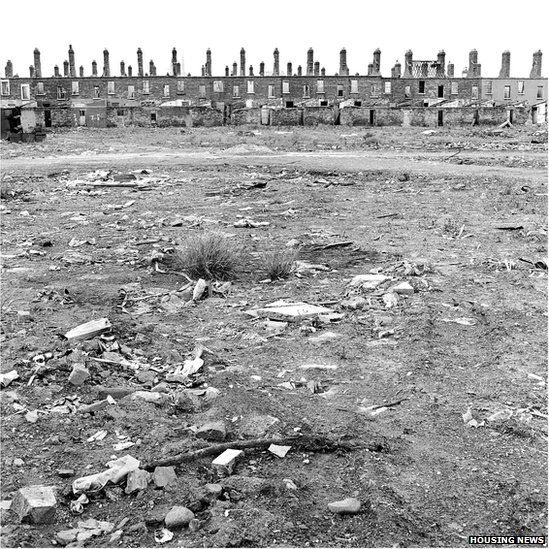 Derelict houses on Roden Street in 1974