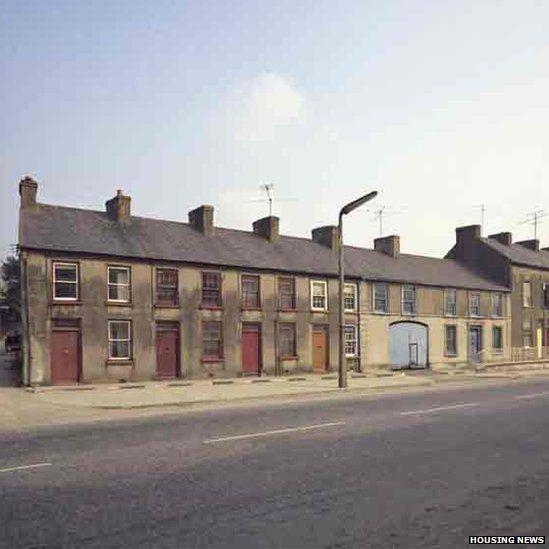 Dromore Street in Banbridge 1973