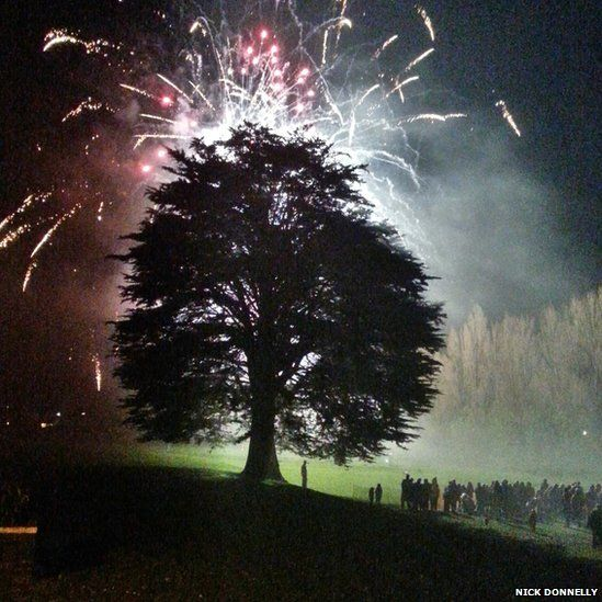 Fireworks at Purbrook Junior School, in Waterlooville, Hampshire