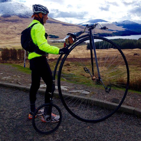 Man with Penny Farthing
