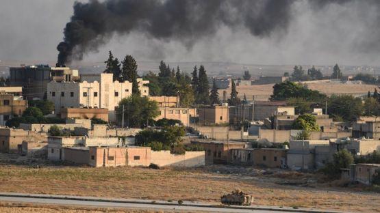 турецкий танк в Телль-Абьяд