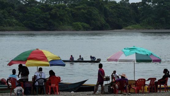 Río Mira, en Colombia