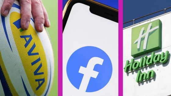 Aviva Facebook and Holiday Inn brands