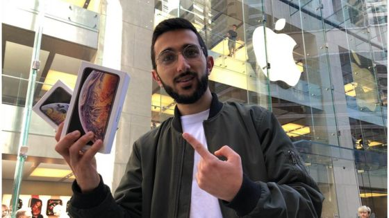 Mazen Kourouche, Apple Store in Sydney in 2018, with iPhone XS