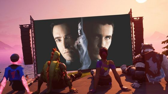 The poster for The Prestige is composited onto a promo image from Epic in this photo illsutration