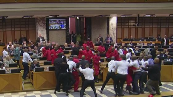 eff mps evicted from south african parliament
