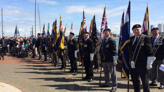 Falklands veterans mark 35th anniversary in Gosport