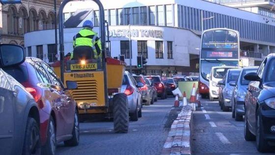 Congestion in Bristol city centre