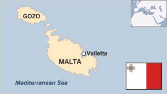 Malta Country Profile BBC News - Malta map