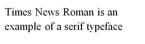Times News Roman