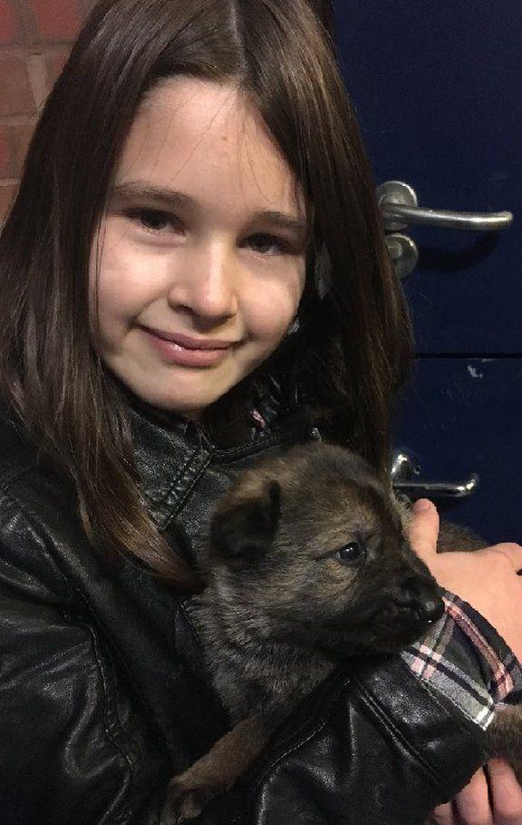 Robyn Birdsell with Robyn the dog