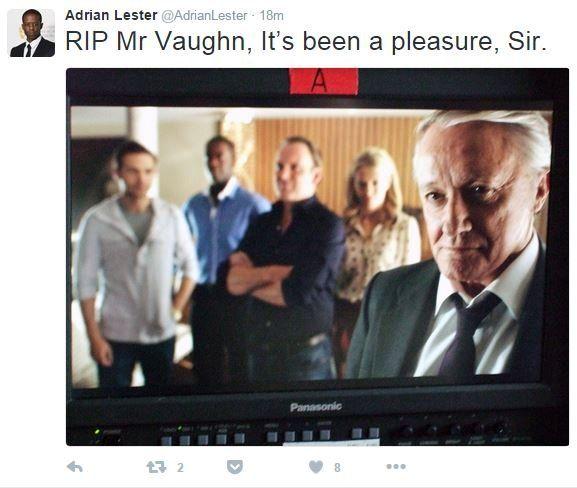 Tweet from @AdrianLester: RIP Mr Vaughn, it's been a pleasure, sir