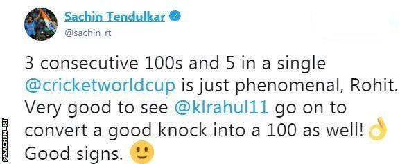 Cricket World Cup: Rohit Sharma hits fifth century as India beat Sri
