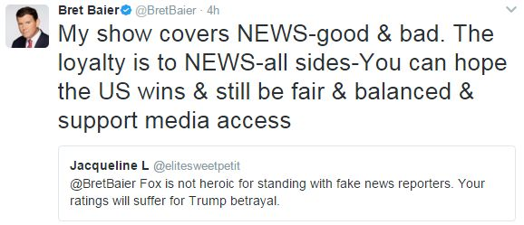 Fox News anchor tweet