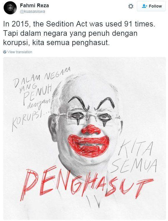 PM as clown