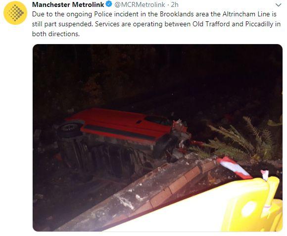 Tweet by Metrolink Manchester