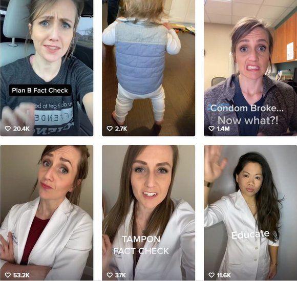 Videos about health get millions of views in TikTok