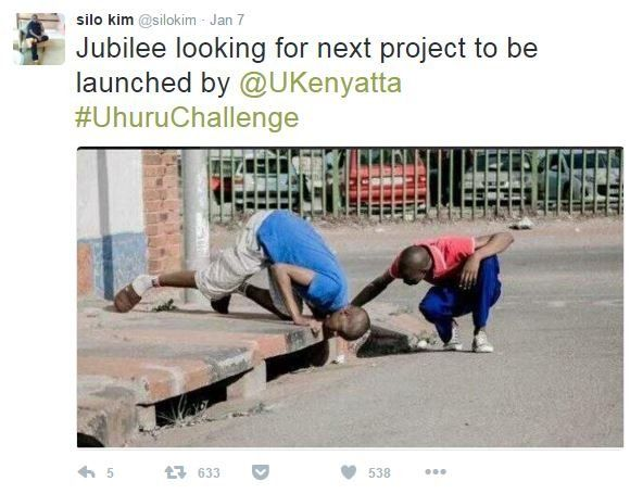 Tweet mocking President Kenyatta