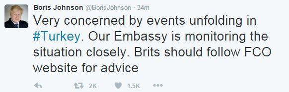Boris Johnson tweet