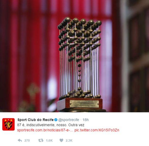 Tweet by Sport Recife