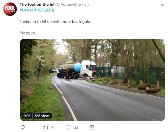 Oil tanker leaving Horse Hill