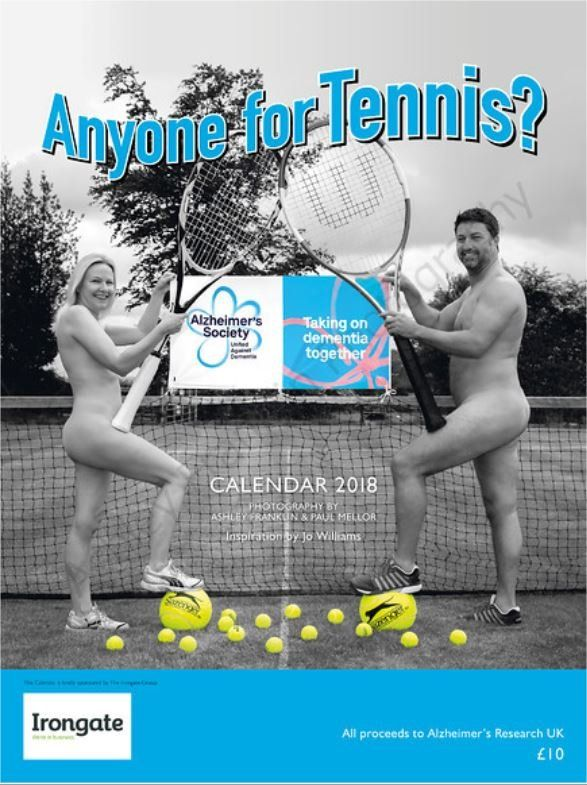 Nude tennis calendar front page