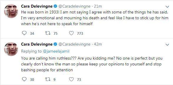 Cara Delevingne tweets