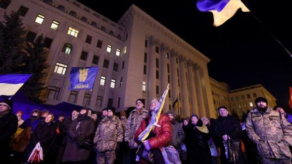 Киевляне следят за ходом саммита