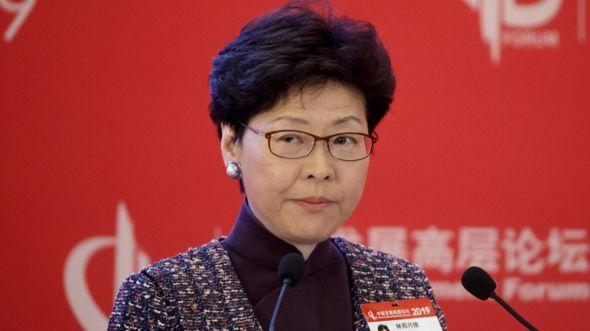 """林鄭月娥形容,如果今年七月前仍未找到一個法律可行的方法處理香港男人涉嫌在台灣殺人案,就會出現""""家屬不願見到的情況""""。"""