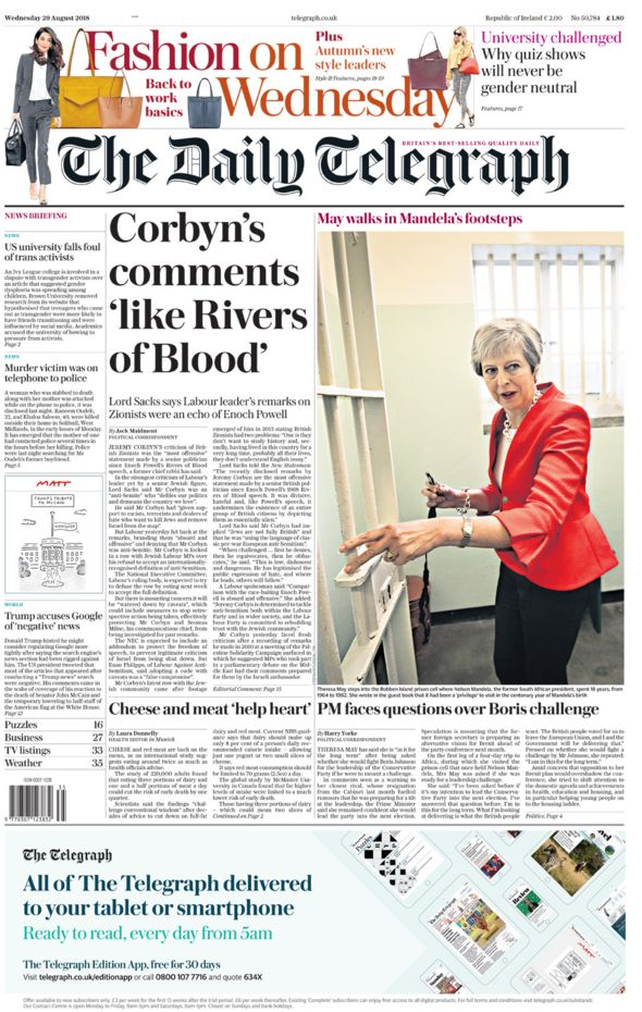 Telegraph Wednesday