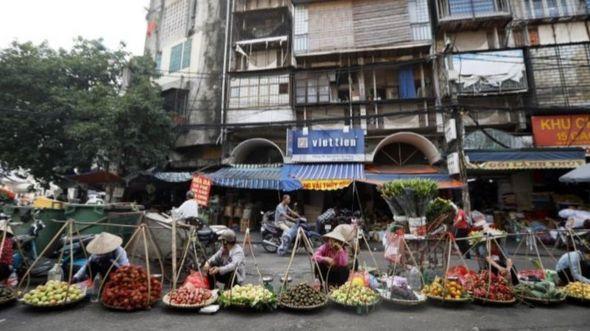 Bán hàng trên phố ở Hà Nội