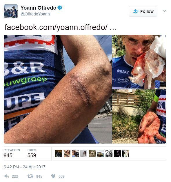 Yoann Offredo tweet