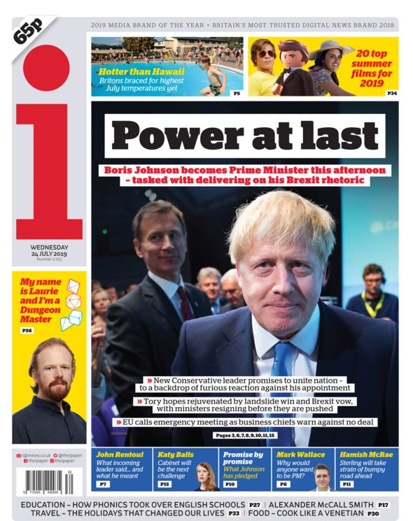 i front page 24/07/19