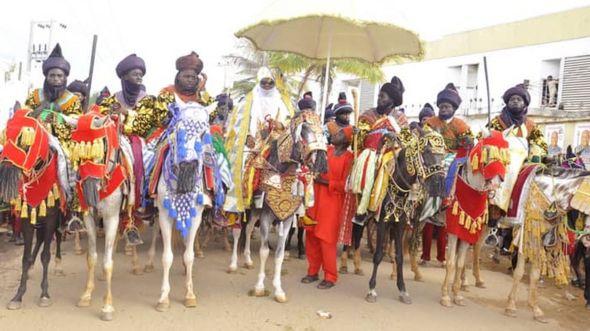 Emir of Keffi, Shehu Usman Chindo Yamusa III, and horsemen