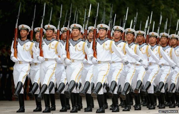 Chinese People's Liberation Army navy soldiers