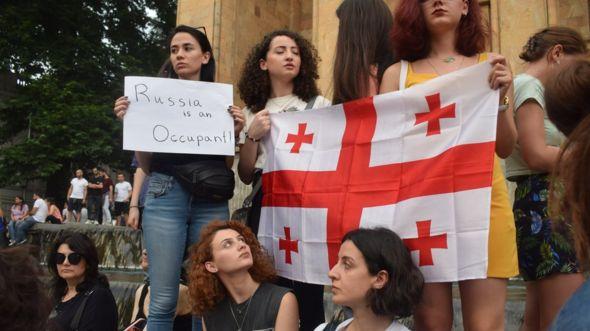 Протесты в Тбилиси