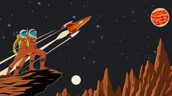 Animación con astronautas
