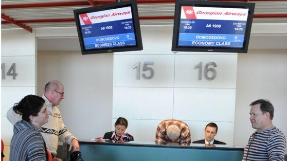 пассажиры в Тбилиси