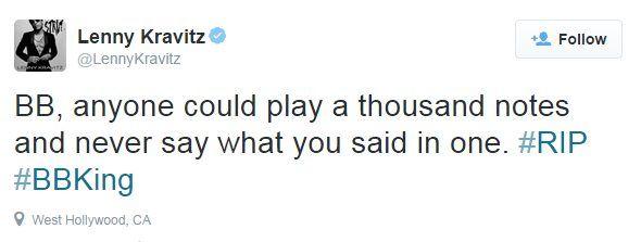 Lenny Kravitz tweet
