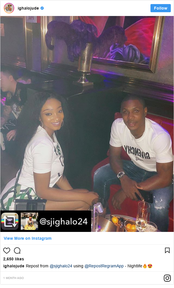 Instagram post by ighalojude: Repost from @sjighalo24 using @RepostRegramApp - Nightlife??