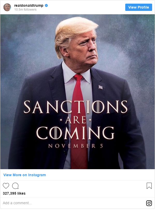 Hbo Unimpressed By Trumps Game Of Thrones Meme Bbc News