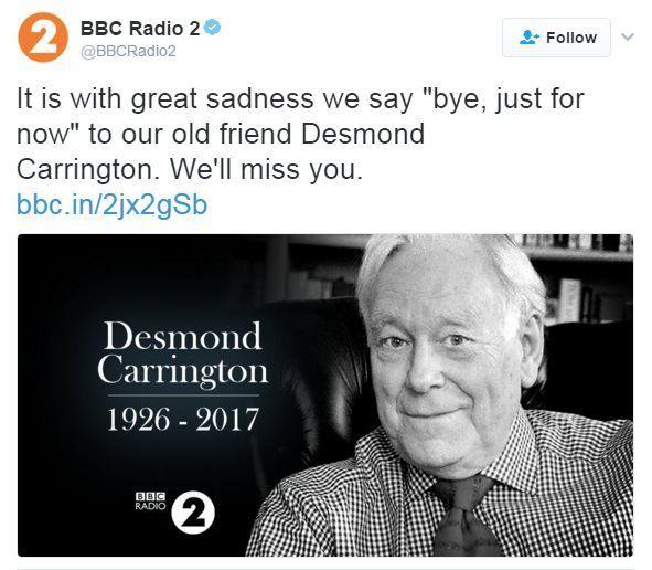 Radio 2 tweet