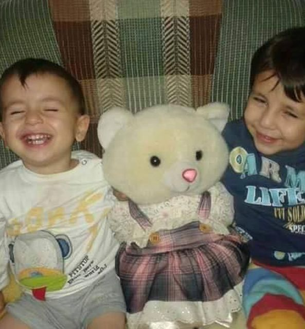 Tima Kurdi shared images like this of Alan and Ghalib in happier times
